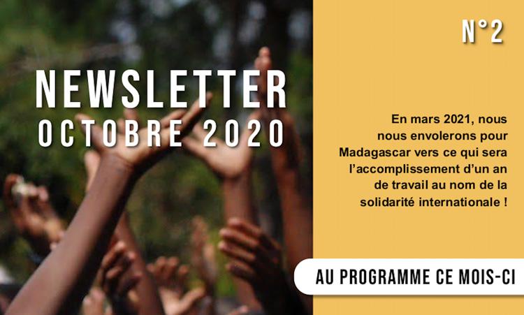 Découvrez la newsletter d'octobre 2020 de l'association Human'isa !